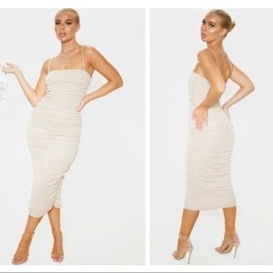 Midaxi ruched dress